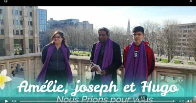 Dimanche 7 mars: Amélie, Joseph, Hugo en marche vers le Baptême